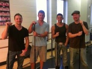 Nick Lachey posted this picture of 98 Degrees