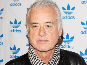 Jimmy Page at Adidas Underground for a surprise one off performance by the legendary Stone Roses