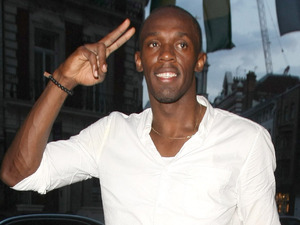 Olympic gold medalist Usain Bolt leaves Movida nightclub after winning his third gold medal.