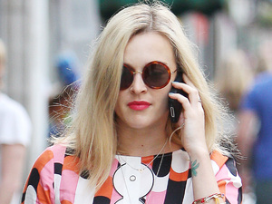 A regnant Fearne Cotton arrives at Radio 1 London, England - 10.08.12