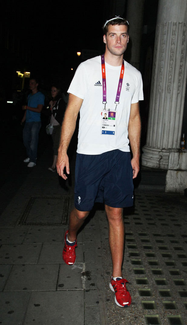 Team GB rower Tom Solesburyoutside Chinawhite Nightclub
