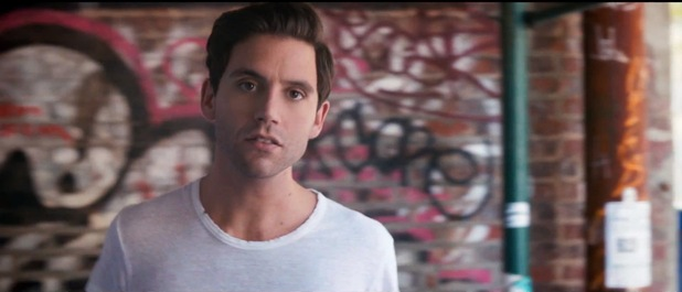 Mika in 'Celebrate' music video.