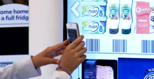 Tesco opens 'virtual supermarket' at Gatwick Airport