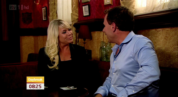 Letitia Dean appears on ' Daybreak ' to talk about her return to Eastenders
