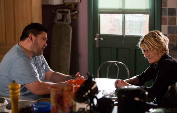 Andrew tells Shirley the way she's acting makes him question her loyalty and love for Heather.