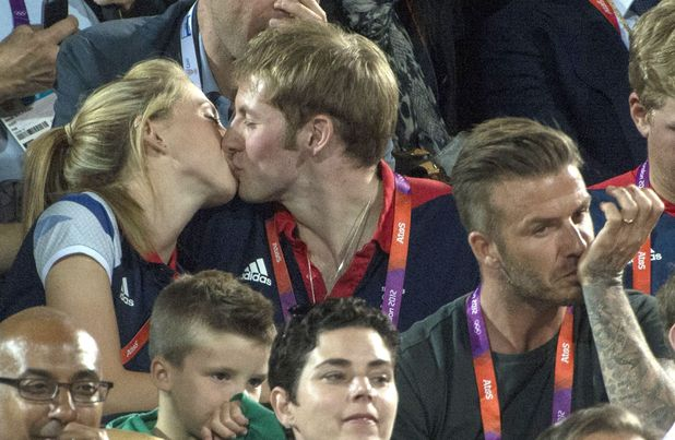 Laura Trott and Jason Kenny kiss