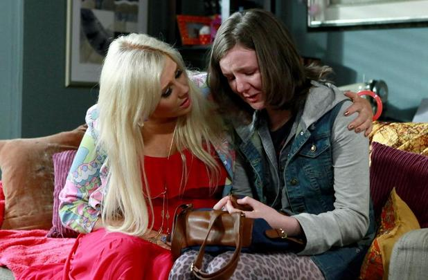 Sash comforts tearful Charlotte.