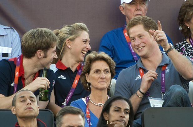 Prince Harry, Laura Trott, and Jason Kenny