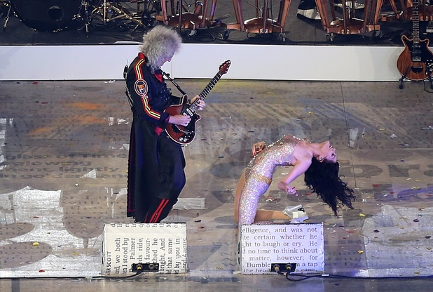 London 2012 Olympics Closing Ceremony: Brian May and Jessie J