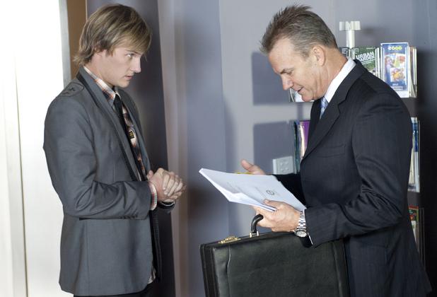 Andrew forges Tash's signature.