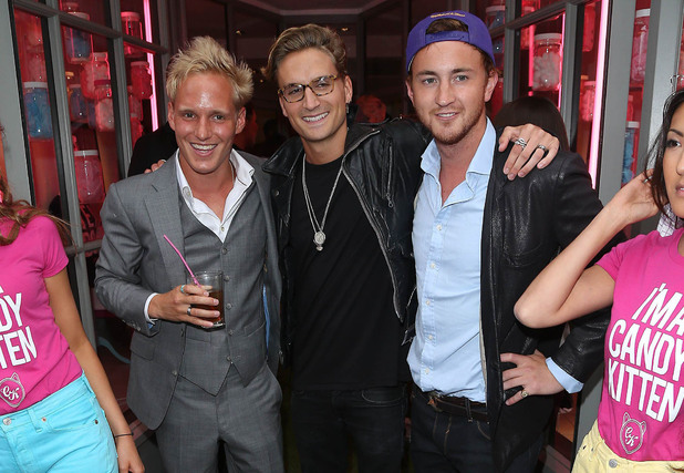 Made in Chelsea's Jamie Laing, Proudlock and Francis at the Candy Kittens launch party at Raffles