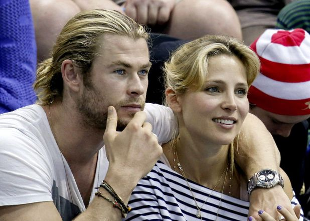 Chris Hemsworth, Elisa Pataky, London2012