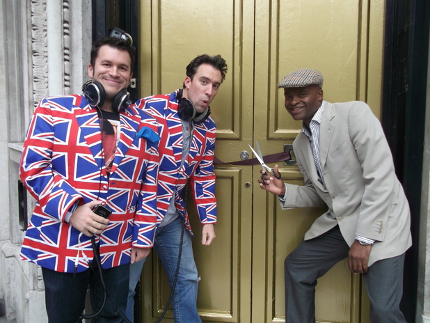 Kris Akabusi cuts the ribbon for Absolute Radio