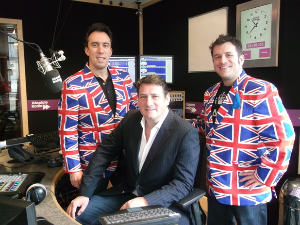 Tony Hadley, Christian O&#39;Connell and Scott Frith for Absolute Radio