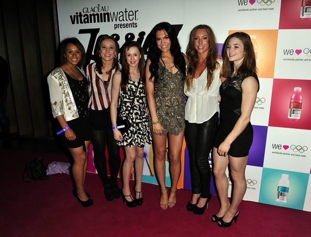 Jessie J and Olympians at Glacau Vtaminwater London 2012 gig