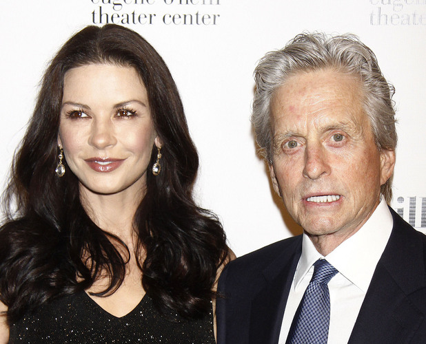 Catherine Zeta-Jones and Michael DouglasThe Eugene ONeill Theater Centers 12th Annual Monte Cristo Award Gala held at the Edison Ballroom  Arrivals.New York City, USA  16.04.12 Mandatory Credit: Joseph Marzullo/WENN.com