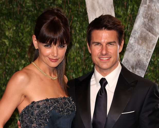 Katie Holmes and Tom Cruise 2012 Vanity Fair Oscar Party at Sunset Tower Hotel - Arrivals West Hollywood, California - 26.02.12 Mandatory Credit: Brian To/WENN.com