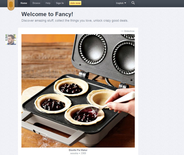 &#39;Fancy&#39; website screenshot