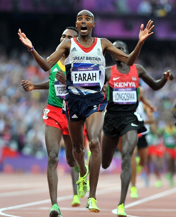 Mo Farah wins the Men's 5000m Final and his second gold medal of London 2012.