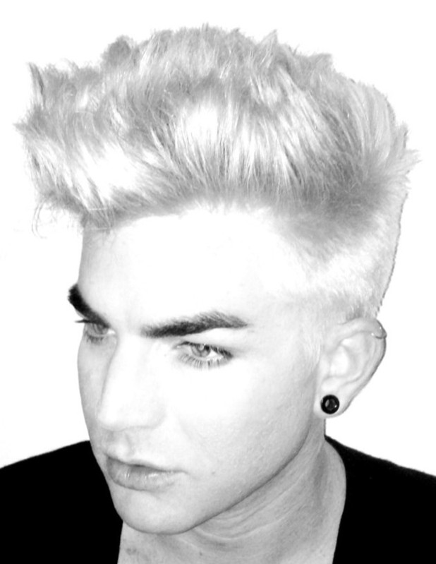 Adam Lambert bleaches his hair