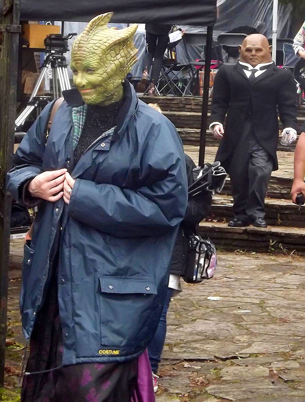 Neve McIntosh as Madame Vastra the Silurian and Dan Starkey as Strax