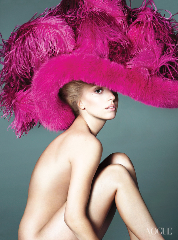 Lady Gaga photo shoot in the September issue of Vogue magazine