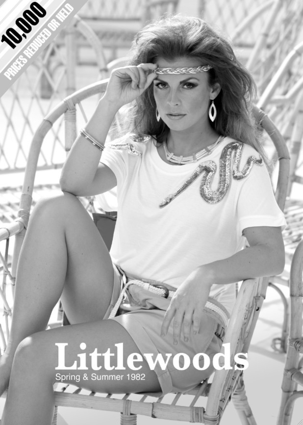 Coleen Rooney recreates 80s Littlewoods cover