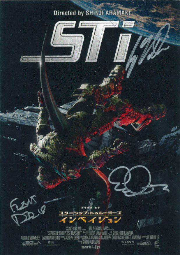 'Starship Troopers: Invasion' signed poster