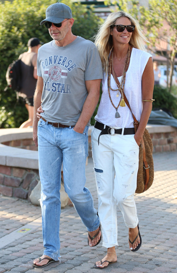 Elle Macpherson and her new boyfriend Roger Jenkins out and about in Los Angeles.