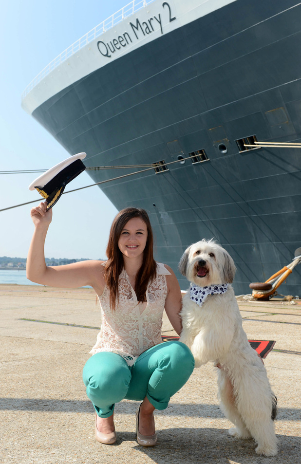 Ashleigh and Pudsey return to the UK on the Queen Mary 2 from New York to Southampton.
