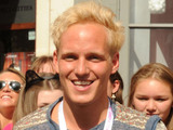 Made in Chelsea&#39;s Jamie Laing opens the doors on the first day of business for his new shop Candy Kittens