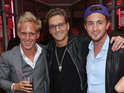 Laing welcomes his Made in Chelsea co-stars to a launch party for Candy Kittens.