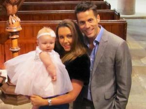 Michelle Heaton with her husband Hugh and their baby daughter Faith