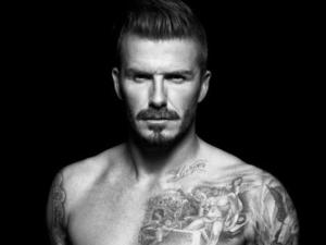 David Beckham poses in his underwear for H&M.