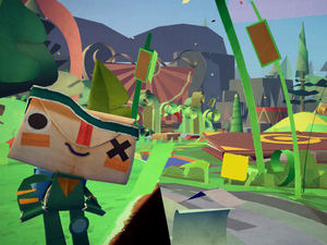 Still from the ps vita 'tearaway' game