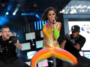 Cheryl Cole performs during Capital FM&#39;s Summertime Ball at Wembley Stadium, London.  Dating backing dancer.
