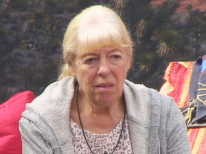 Celebrity Big Brother 2012 - Day 2: Julie relaxing in the garden
