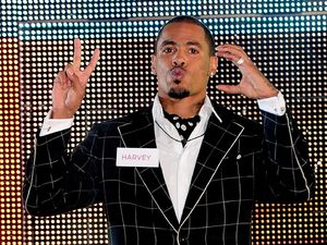 MC Harvey enters the Celebrity Big Brother house