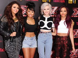 Last year&#39;s winners Little Mix arriving at The X Factor press launch held at the Corinthia Hotel.