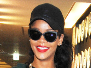 Rihanna arrives at Narita International Airport ahead of her performances at Summer Sonic 2012 Festival Tokyo, Japan