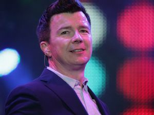 Rick Astley performs at the rewind Festival in Oxfordshire.