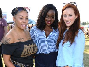 Celebrities at V Festival: Mutya Buena, Keisha Buchanan and Siobhan Donaghy