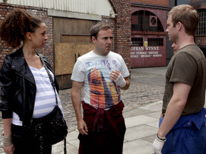 Tommy accuses Kirsty of being violent to Tyrone and Kirsty claims she does not need to explain herself