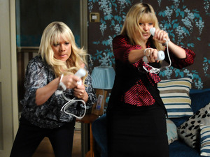 Sharon and Tanya get competitive.