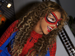 Beyonce in photo from her Tumblr.