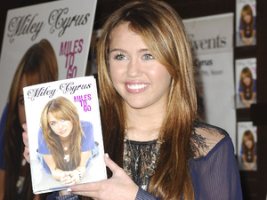 Miley Cyrus promotes her book, 'Miles To Go' at Barnes & Noble Los Angeles, California