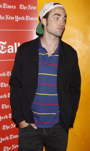 Robert Pattinson is photographed with his zipper open during a TimesTalks Presents event, New York City, USA - 15.08.12