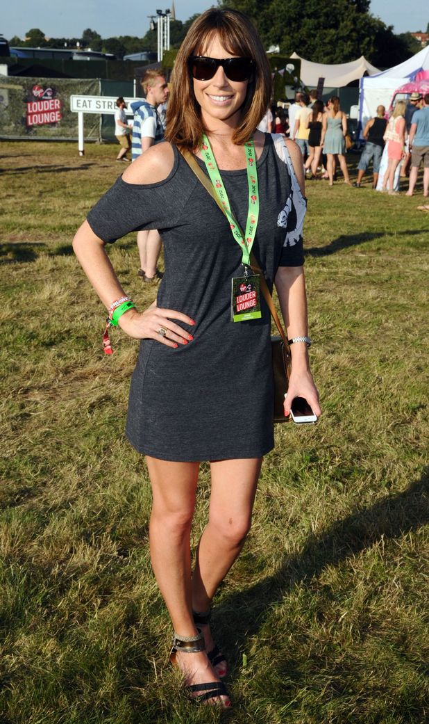 Celebrities at V Festival: Alex Jones