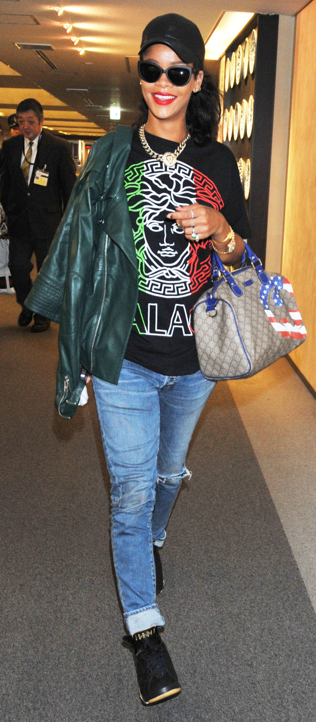 Rihannaarrives at Narita International Airport ahead of her performances at Summer Sonic 2012 FestivalTokyo, Japan