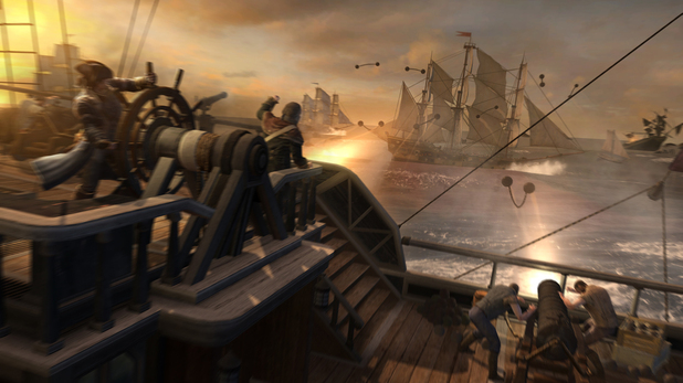 Assassin's Creed 3 naval warfare ship battle